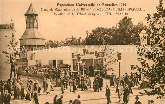 AK / Ansichtskarte Exposition_Bruxelles_1935 Stand de degustation de la Biere Prazdroj Pilsen Urquell  Exposition_Bruxelles_1935 0