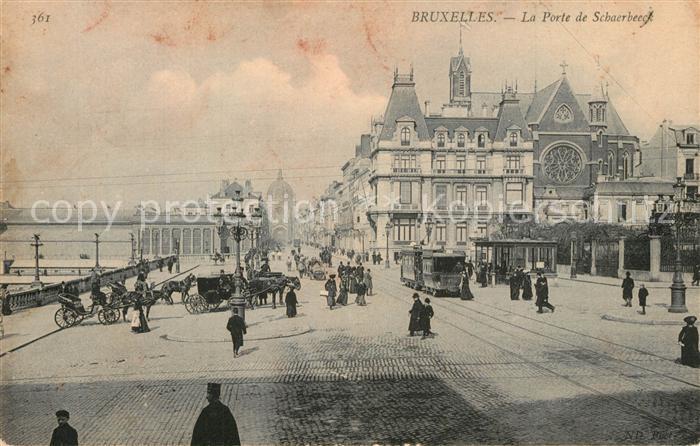 AK / Ansichtskarte Strassenbahn Bruxelles Porte de Schaerbeeck   0