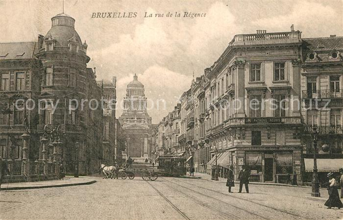 AK / Ansichtskarte Strassenbahn Bruxelles Rue de la Regence   0