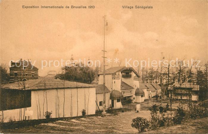 AK / Ansichtskarte Exposition_Universelle_Bruxelles_1910 Village Senegalais   0