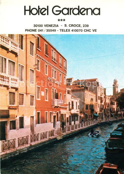 AK / Ansichtskarte Venezia_Venedig Hotel Gardena Lageplan Venezia Venedig 0