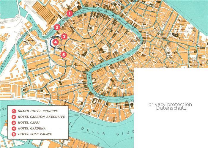 AK / Ansichtskarte Venezia_Venedig Hotel Gardena Lageplan Venezia Venedig 1
