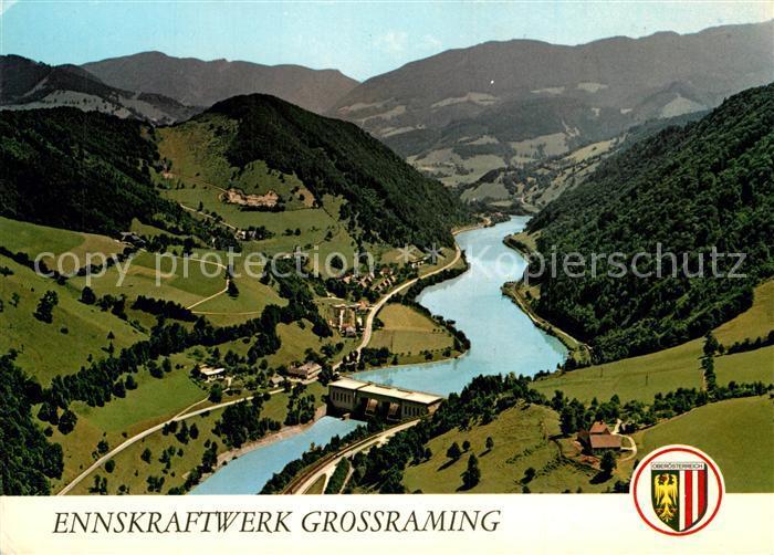 AK / Ansichtskarte Reichraming Fliegeraufnahme Ennskraftwerk Grossraming Reichraming 0