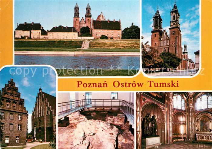 AK / Ansichtskarte Ostrow_Tumski Insel Warta Cybina Kathedrale Denkmal Kirche