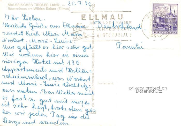 AK / Ansichtskarte Ellmau_Tirol Bauernhaus am Wilden Kaiser Brunnen Ellmau Tirol 1