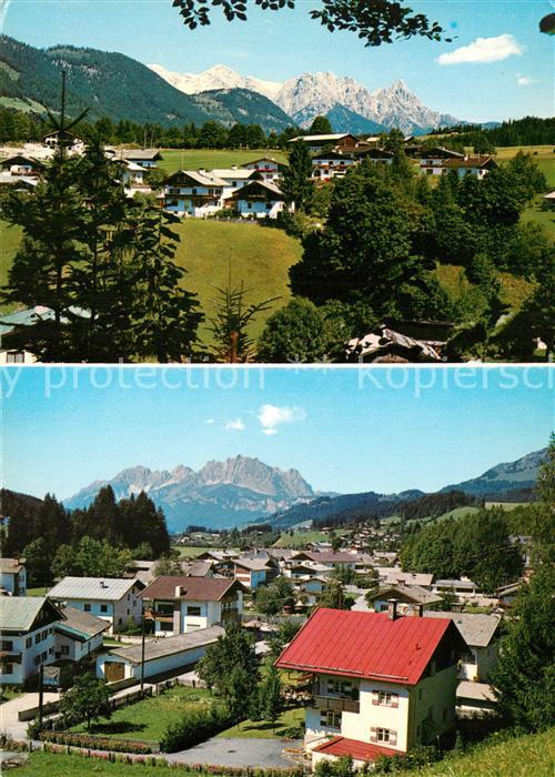 AK / Ansichtskarte Fieberbrunn_Tirol Schlossberg gegen Loferer Steinberge Rosenegg gegen Wilden Kaiser Fieberbrunn Tirol