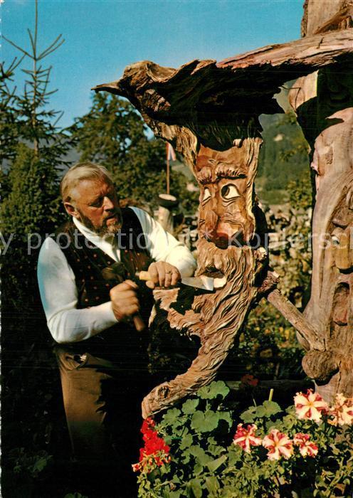 AK / Ansichtskarte Buehel_Zillertal Wurzen Max Maerchenwelt Studio Alte Muehle Holzschnitzerein Buehel_Zillertal 0