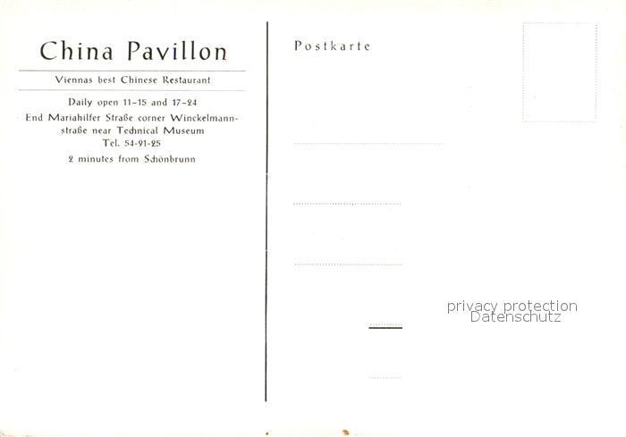 AK / Ansichtskarte Wien China Pavillon Chinese Restaurant Wien 1