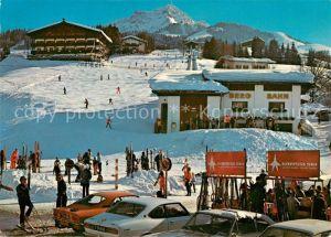 AK / Ansichtskarte St_Johann_Tirol Bergbahn mit Kitzbueheler Horn Wintersport Kitzbueheler Alpen St_Johann_Tirol