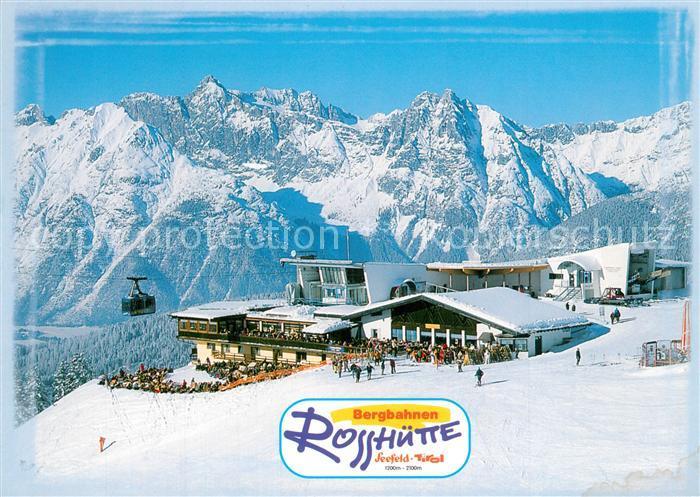 AK / Ansichtskarte Seefeld_Tirol Schizentrum Rosshuette Blick gegen Wettersteingebirge Seefeld Tirol 0