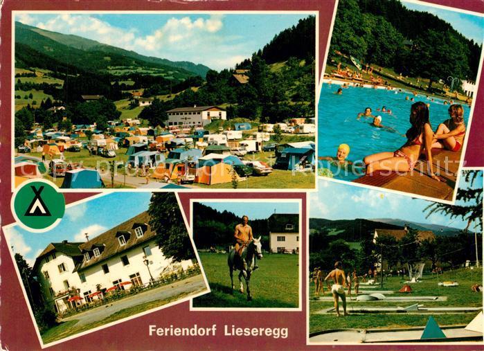AK / Ansichtskarte Lieseregg Feriendorf Campingplatz Minigolf Gasthof Pension Reiten Freibad Lieseregg 0