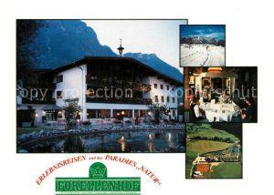 AK / Ansichtskarte Woergl_Angerberg Ferienoase Hotel Forellenhof Wintersport Alpen Fliegeraufnahme Woergl Angerberg