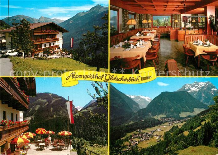 AK / Ansichtskarte Finkenberg_Tirol Alpengasthof Gletscherblick Restaurant Terrasse Landschaftspanorama Zillertaler Alpen Finkenberg Tirol 0