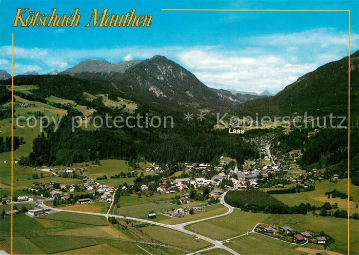 AK / Ansichtskarte Koetschach Mauthen_Kaernten Kurort mit Laas Gailberg Karnische Dolomiten Fliegeraufnahme Koetschach Mauthen Kaernten 0
