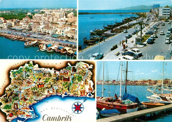 AK / Ansichtskarte Cambrils Hafen Lageplan  Cambrils