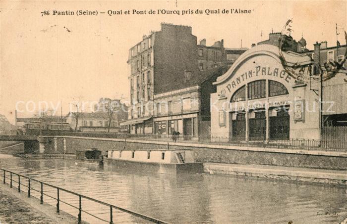 AK / Ansichtskarte Pantin Quai et Pont de l Ourcq pris du Quai de l Aisne Pantin