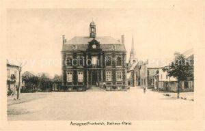 AK / Ansichtskarte Amagne Place de l Hotel de Ville Rathaus Marktplatz Amagne