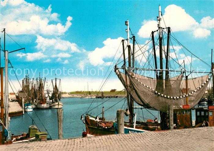 AK / Ansichtskarte Norddeich_Ostfriesland Fischereihafen Norddeich_Ostfriesland