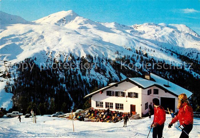 AK / Ansichtskarte Reschen_See_Tirol Schihaus Schoeneben