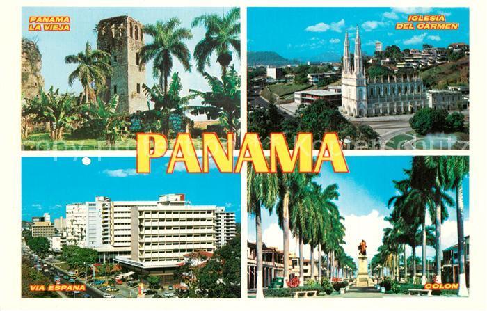 AK / Ansichtskarte Panama La Vieja Iglesia del Carmen Via Espana Colon Panama