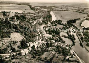 AK / Ansichtskarte Dun sur Meuse Le Canal et la Ville vue aerienne Dun sur Meuse