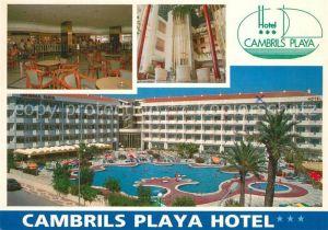 AK / Ansichtskarte Cambrils Hotel Cambrils Playa Speisesaal Foyer Pool Cambrils
