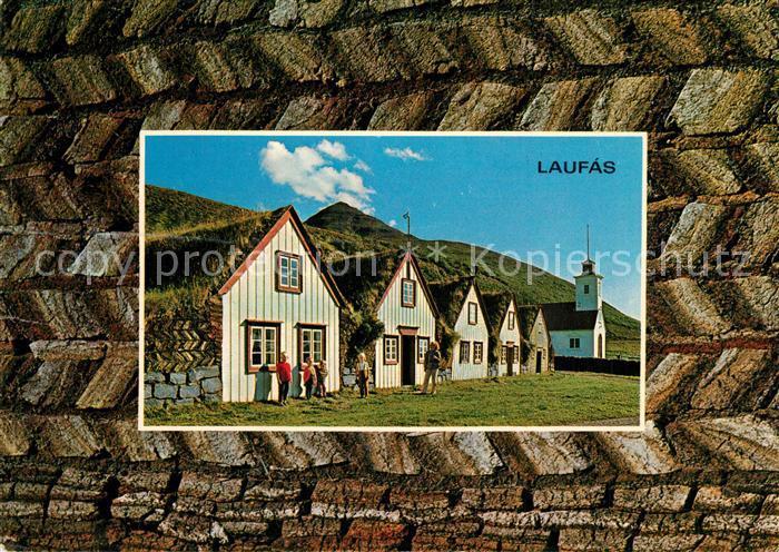 AK / Ansichtskarte Island Pfarrhof Laufas Island