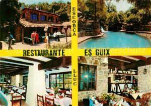 AK / Ansichtskarte Lluc Restaurant es Guix Lluc