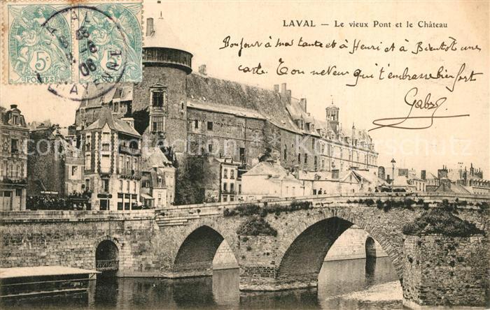 AK / Ansichtskarte Laval_Isere Le vieux Pont et le Chateau Laval Isere