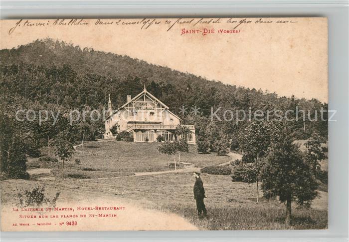 AK / Ansichtskarte Saint Die des Vosges Laiterie Saint Martin Hotel Restaurant Saint Die des Vosges