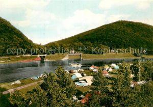 AK / Ansichtskarte Kemnade Campingplatz Faehrhaus an der Weser Kemnade