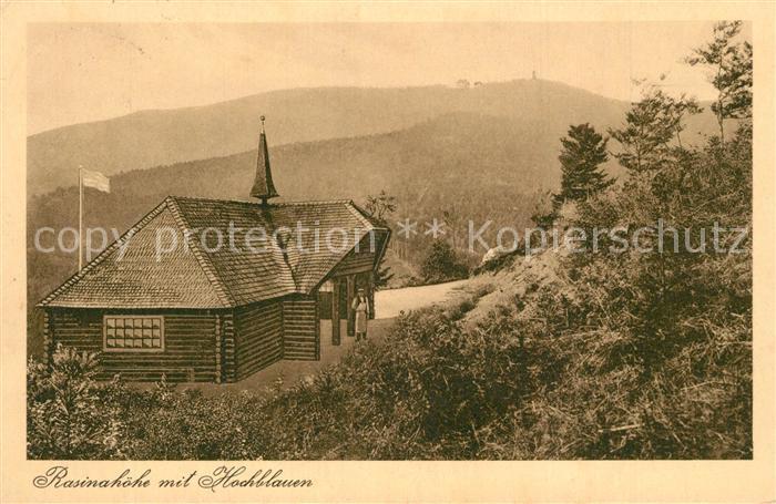 AK / Ansichtskarte Badenweiler Gasthaus Rasinahoehe mit Blick zum Hochblauen Schwarzwald Badenweiler