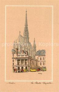 AK / Ansichtskarte Paris La Sainte Chapelle Dessin Kuenstlerkarte Paris