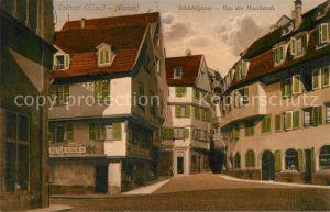 AK / Ansichtskarte Colmar_Haut_Rhin_Elsass Rue des Marchands Schaedelgasse Colmar_Haut_Rhin_Elsass