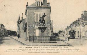 AK / Ansichtskarte Orleans_Loiret Place de la Bascule et Monument de la Defense Orleans_Loiret