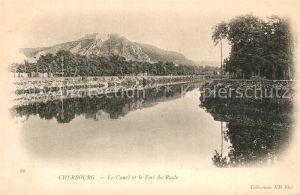 AK / Ansichtskarte Cherbourg_Octeville_Basse_Normandie Le Canal et le Fort du Roule Cherbourg_Octeville