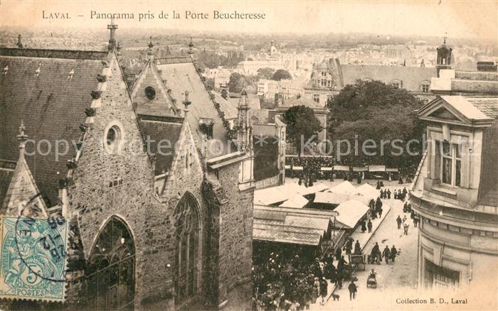 AK / Ansichtskarte Laval_Mayenne Panorama pris de la Porte Beucheresse Laval Mayenne