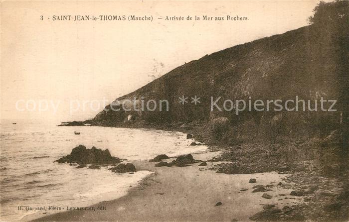 AK / Ansichtskarte Saint Jean le Thomas Arrivee de la Mer aux Rochers Saint Jean le Thomas