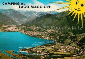 AK / Ansichtskarte Lago_Maggiore Camping al Lago Maggiore Panorama Lago Maggiore