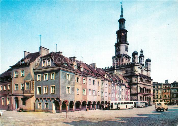 AK / Ansichtskarte Poznan_Posen Fragment Starego Rynku Poznan Posen