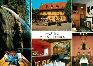 AK / Ansichtskarte Hrensko Hotel Mezni Louka Details Hrensko
