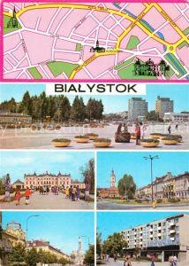 AK / Ansichtskarte Bialystok Plac Defilad Akademia Medyczna w barokowym palacu Plac Tadeusza Kosciuszki Ulica Lipowa Fragment miasta Bialystok