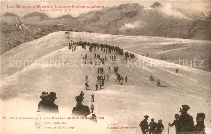 Superbagneres Panorama du plateau en hiver Sports d hiver Alpes Francaises Superbagneres