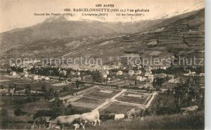 Barcelonnette Vue generale et les Alpes Barcelonnette