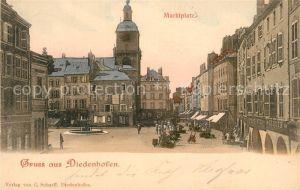 AK / Ansichtskarte Diedenhofen Marktplatz Diedenhofen