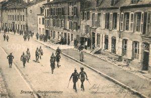 AK / Ansichtskarte Stenay Kronprinzenstrasse Soldaten Westlicher Kriegsschauplatz 1. Weltkrieg Stenay