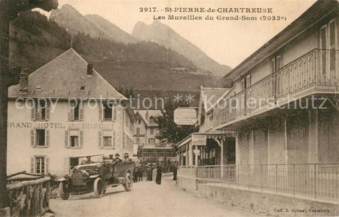 AK / Ansichtskarte Saint Pierre de Chartreuse Les Murailles du Grand Som Saint Pierre de Chartreuse