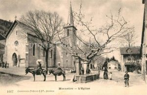 AK / Ansichtskarte Monnetier Mornex Eglise Fontaine Kirche Brunnen Monnetier Mornex