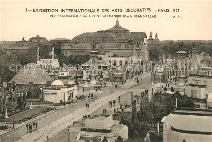 AK / Ansichtskarte Paris Exposition Internationale des Arts Decoratifs Pont Alexandre Grand Palais Paris