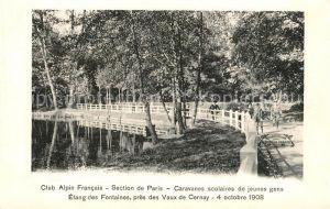 AK / Ansichtskarte Les_Vaux_de_Cernay Etang des Fontaines Club Alpin Francais Caravanes scolaires de jeunes gens Les_Vaux_de_Cernay